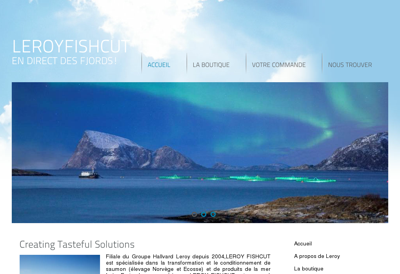 Capture d'écran du site de Fishcut