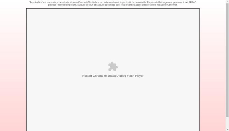 Capture d'écran du site de Les Airelles Residence Pour Personnes Agees