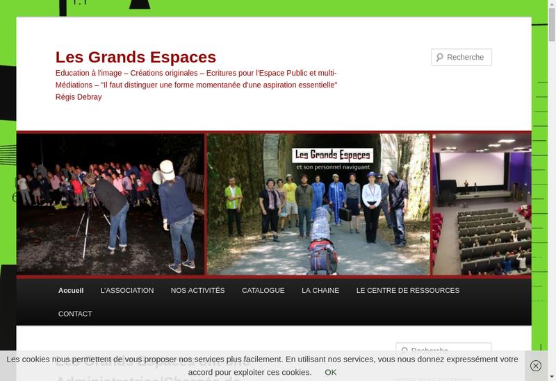 Capture d'écran du site de Les Grands Espaces