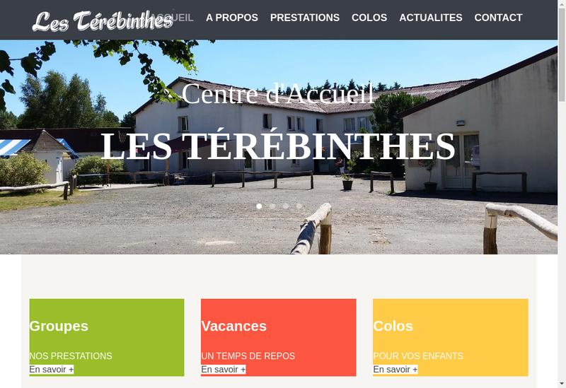 Capture d'écran du site de Terebinthe