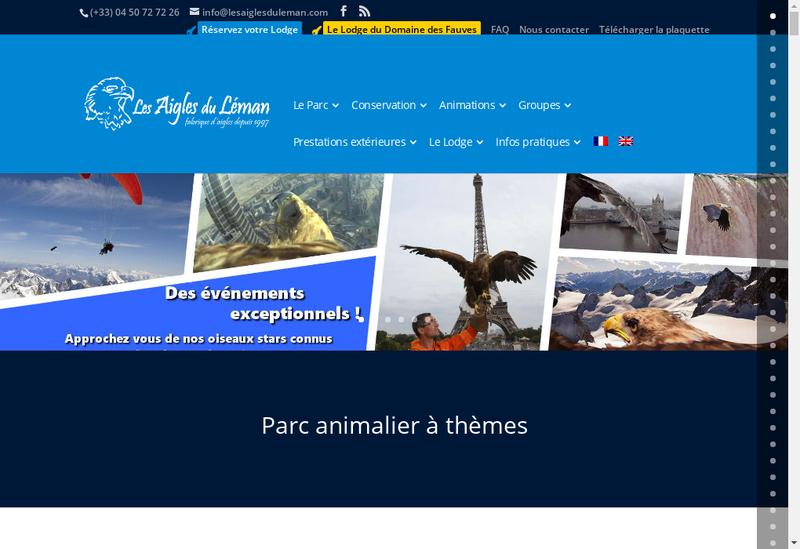 Capture d'écran du site de Les Aigles du Leman