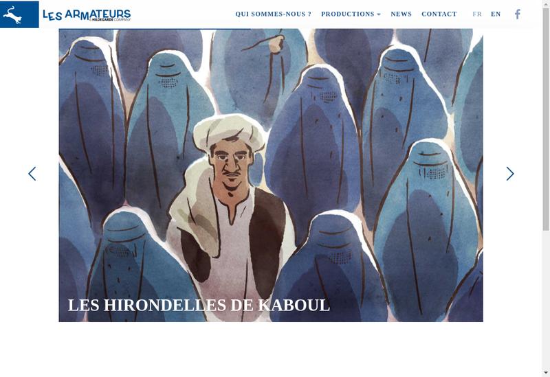 Capture d'écran du site de Les Armateurs