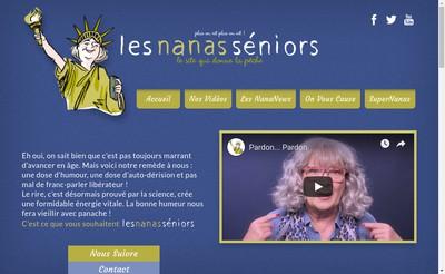Site internet de Les Nanas Seniors