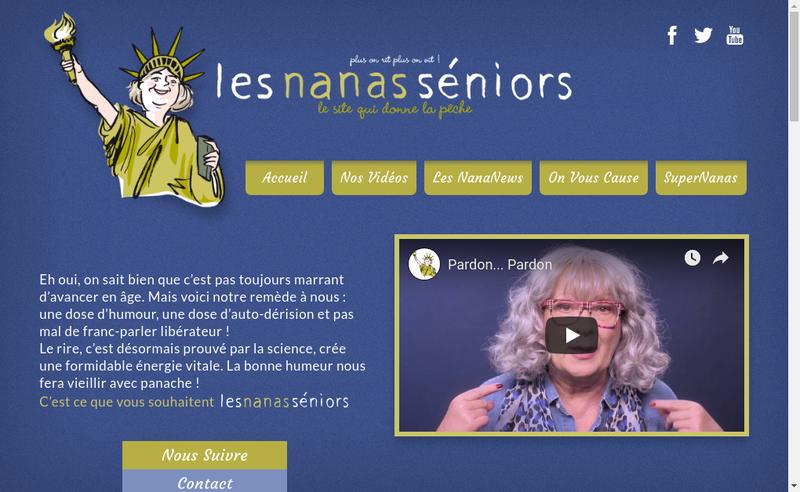 Capture d'écran du site de Les Nanas Seniors