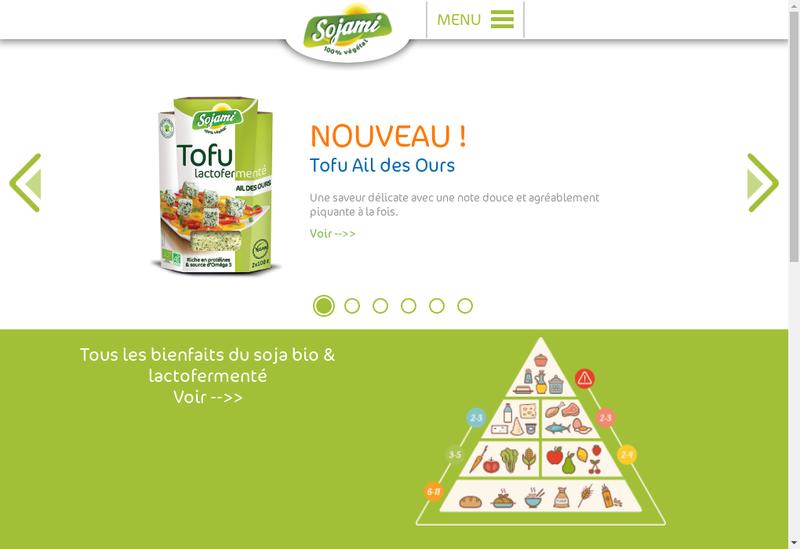 Capture d'écran du site de Le Sojami