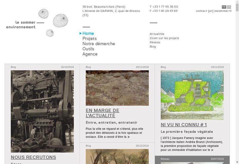 Capture d'écran du site de Le Sommer Environnement