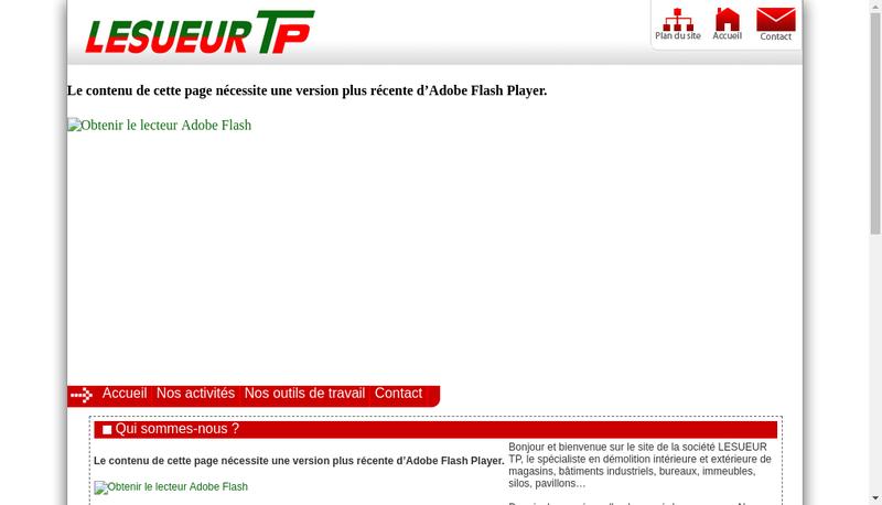 Capture d'écran du site de Lesueur Tp