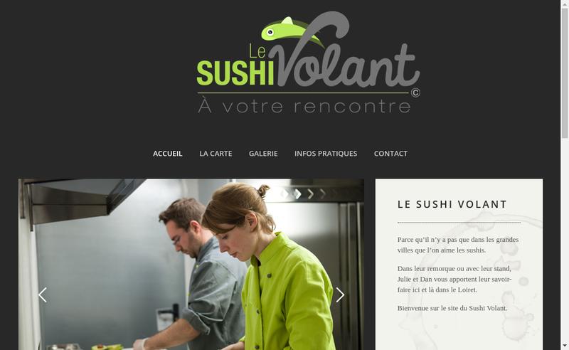 Capture d'écran du site de Le Sushi Volant
