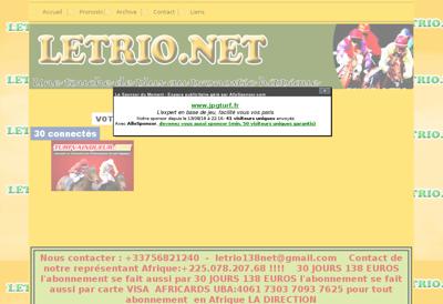 Capture d'écran du site de Eko Snack