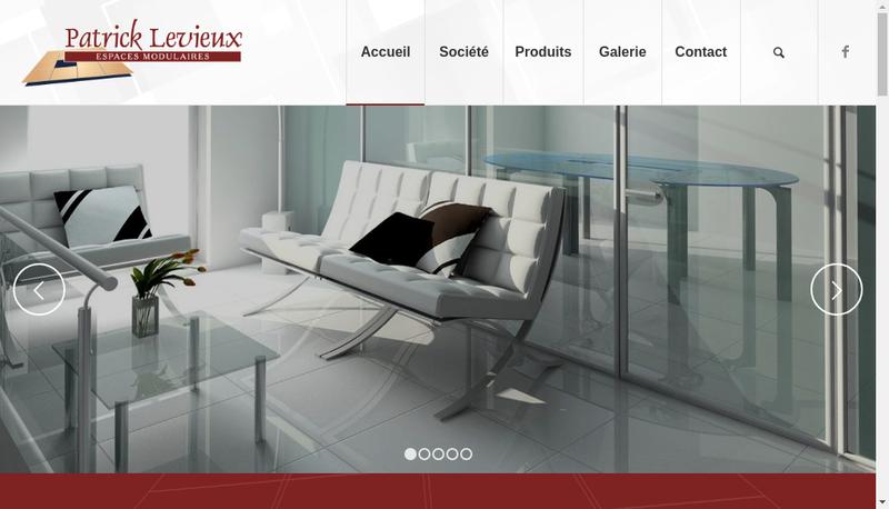 Capture d'écran du site de Entreprise Levieux Patrick