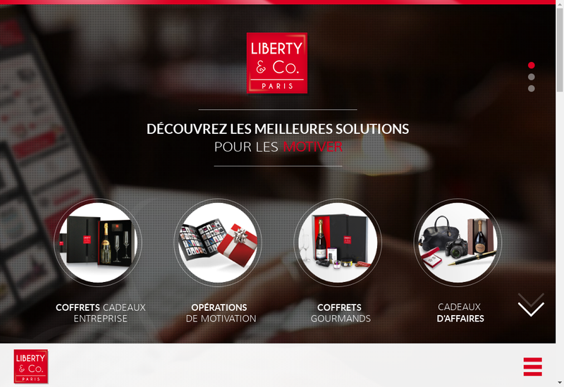 Capture d'écran du site de Coffret Liberty-Carte Ls-My Liberty-Compagnie des