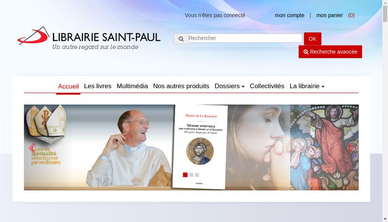 Capture d'écran du site de Apostolat des Editions