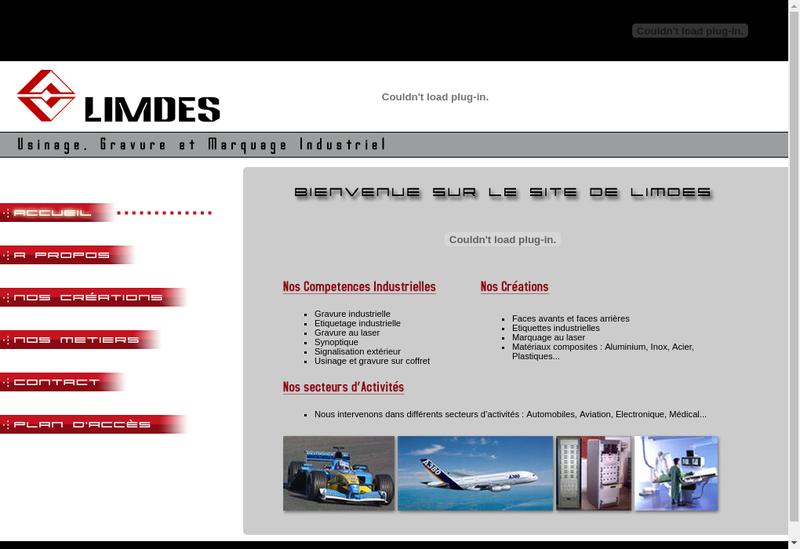 Capture d'écran du site de Gravure Industrielle Lim des