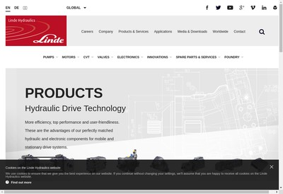Site internet de Linde Hydraulics France Sarl