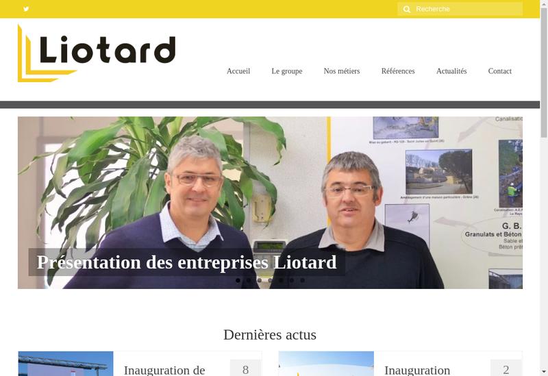 Capture d'écran du site de Liotard Tp