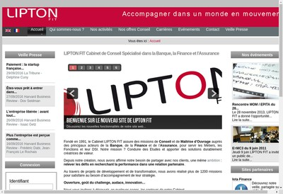 Site internet de Lipton Fit