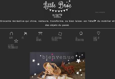 Capture d'écran du site de Little Broc