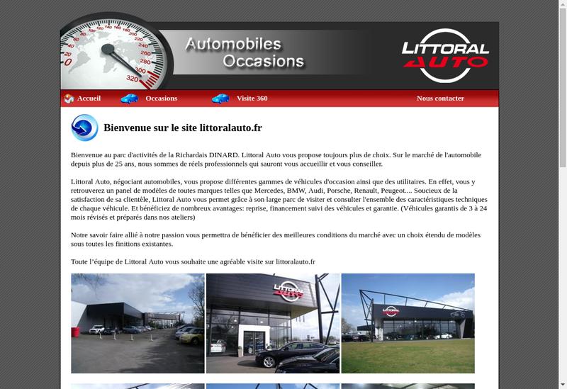 Capture d'écran du site de Littoral Auto