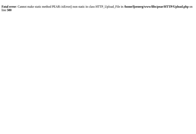 Capture d'écran du site de LJS