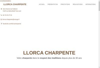 Site internet de Llorca Charpente