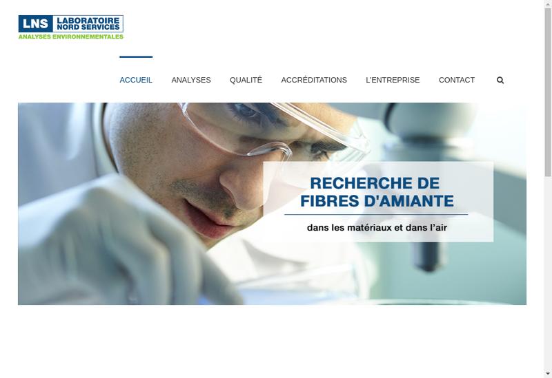 Capture d'écran du site de LNS