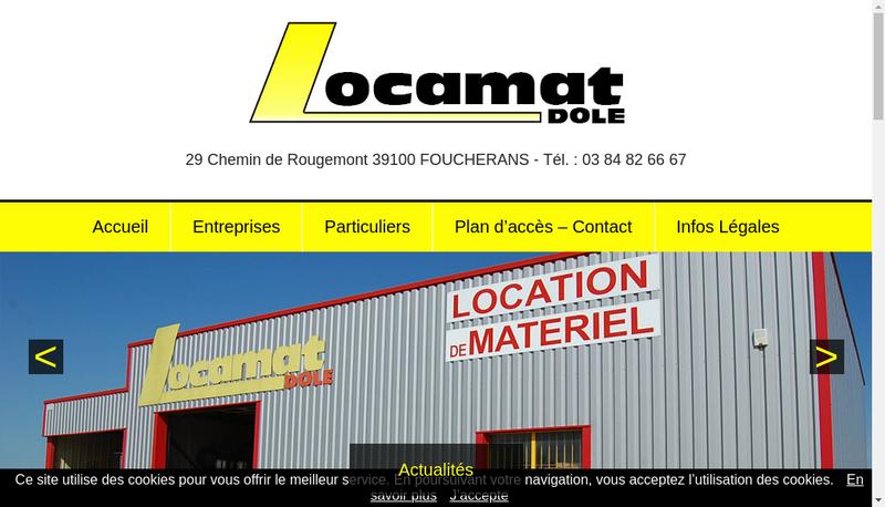 Capture d'écran du site de Locamat Dole