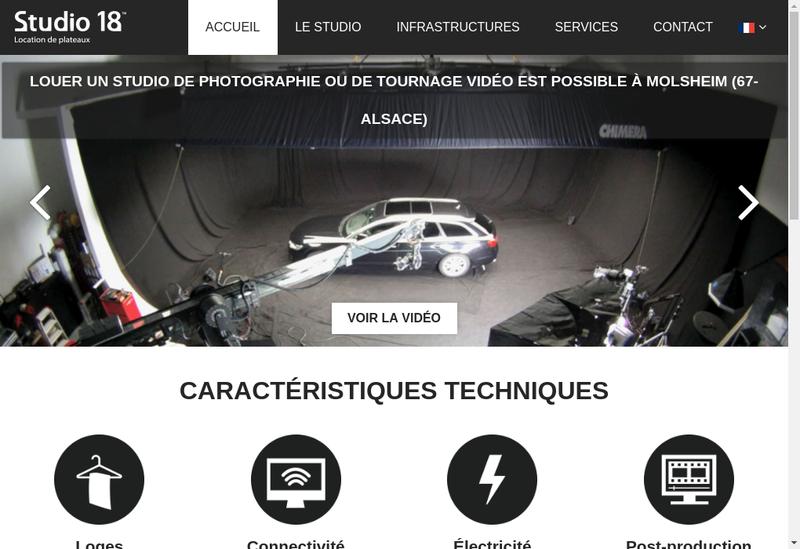 Capture d'écran du site de Studio 18