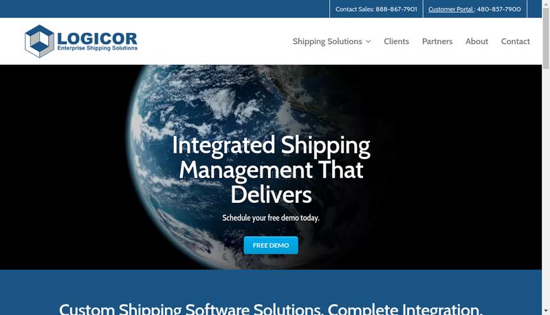 Capture d'écran du site de Logicor