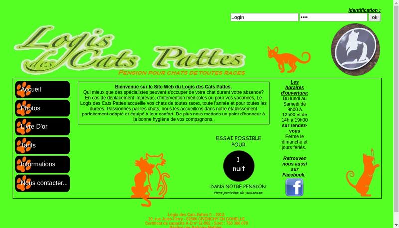 Capture d'écran du site de Monique Guillon