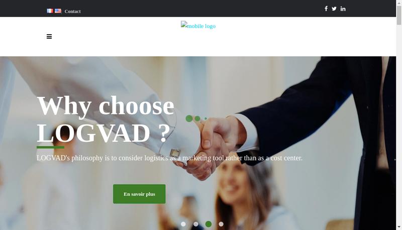 Capture d'écran du site de Logvad