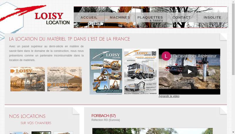 Capture d'écran du site de Loisy et Fils