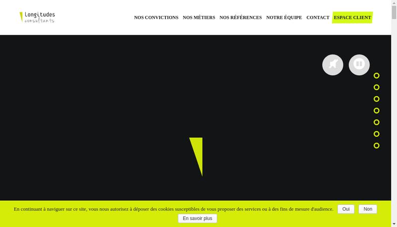 Capture d'écran du site de Longitudes