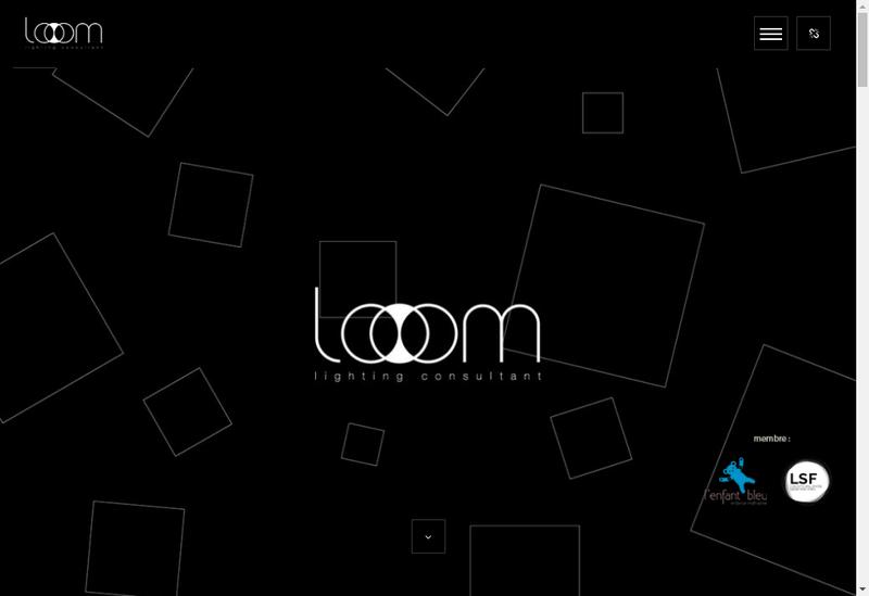 Capture d'écran du site de Looom