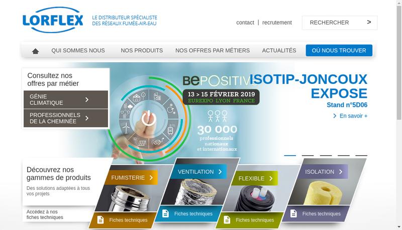 Capture d'écran du site de Lorflex
