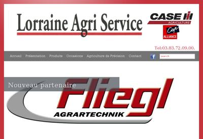 Capture d'écran du site de Lorraine Agri Service