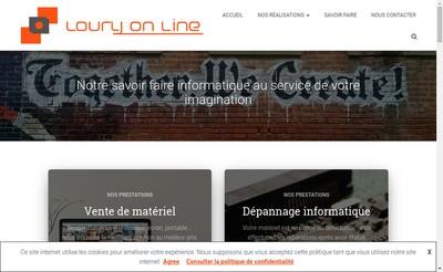 Site internet de Loury On Line