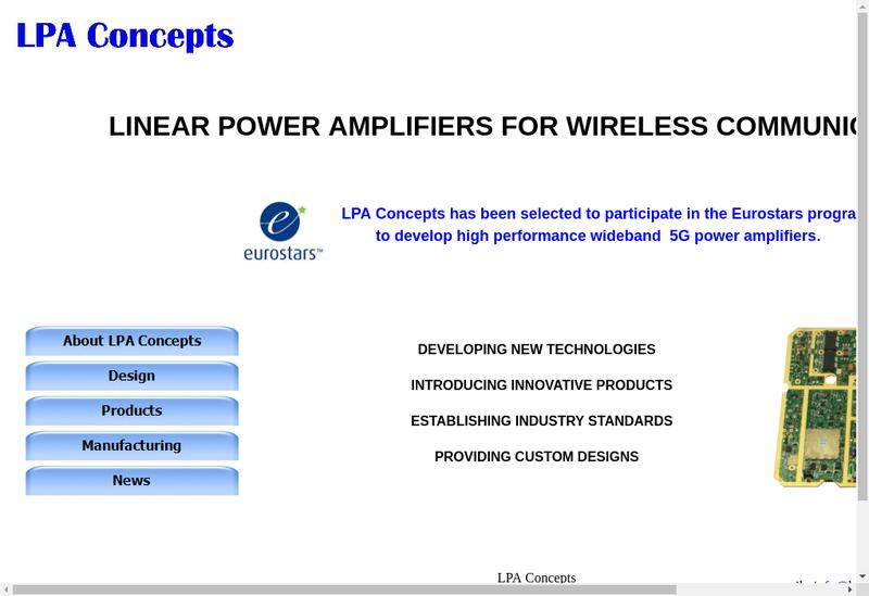 Capture d'écran du site de Lpa Concepts