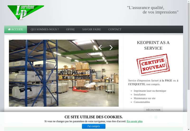 Capture d'écran du site de Lp Services