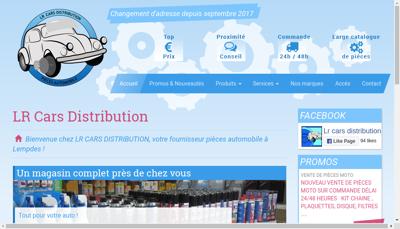 Capture d'écran du site de LR Distribution