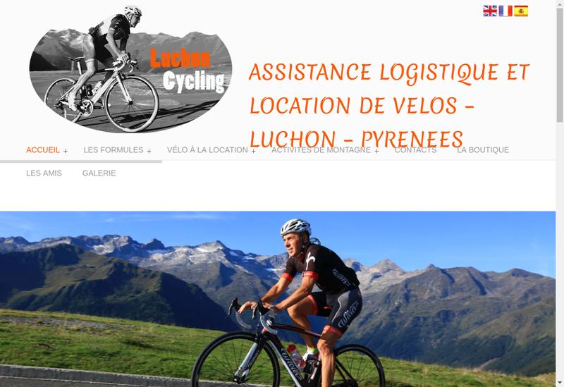 Capture d'écran du site de Luchon Cycling
