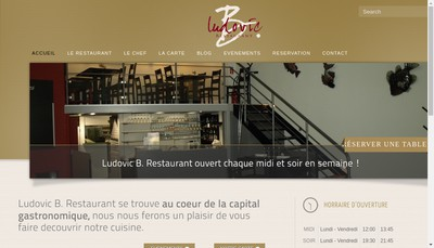 Site internet de Ludovic B Restaurant