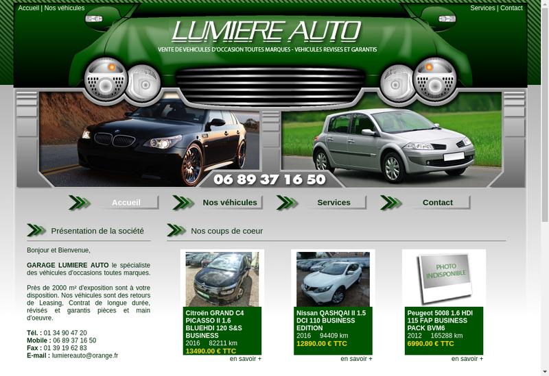 Capture d'écran du site de ABL Auto