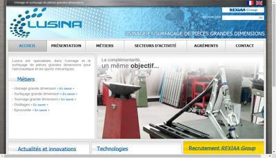 Capture d'écran du site de Lusina