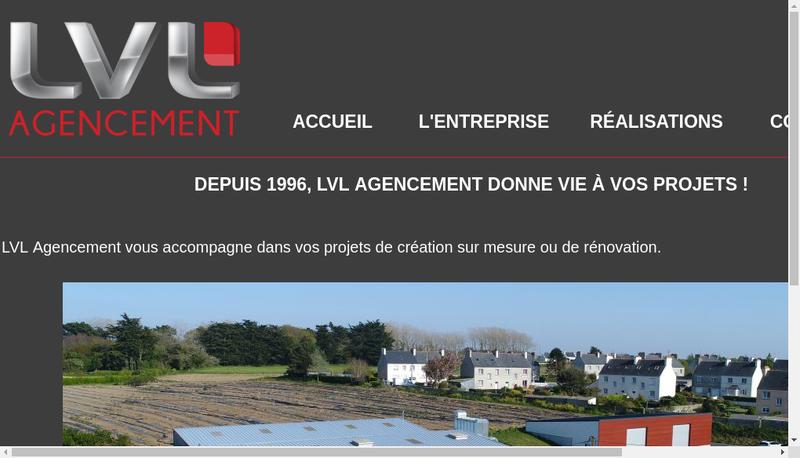 Capture d'écran du site de Lvl Agencement
