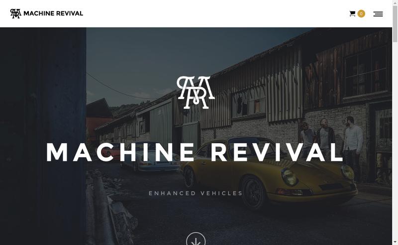 Capture d'écran du site de Machine Revival