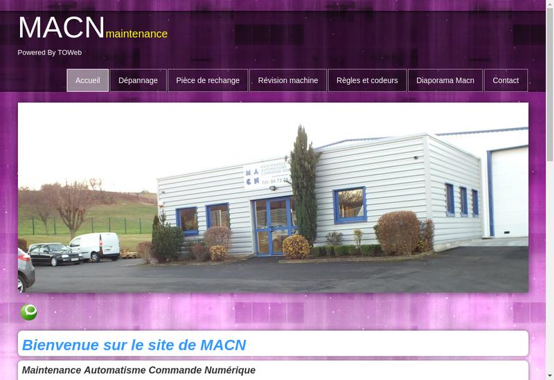Capture d'écran du site de Maintenance Automatisme Commande Numer