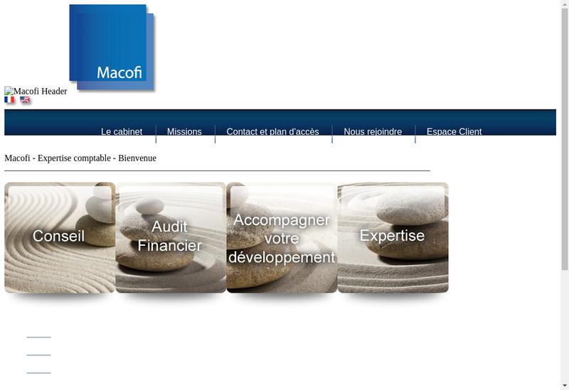 Capture d'écran du site de Macofi