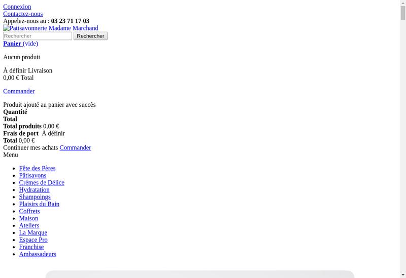 Capture d'écran du site de Madame Marchand