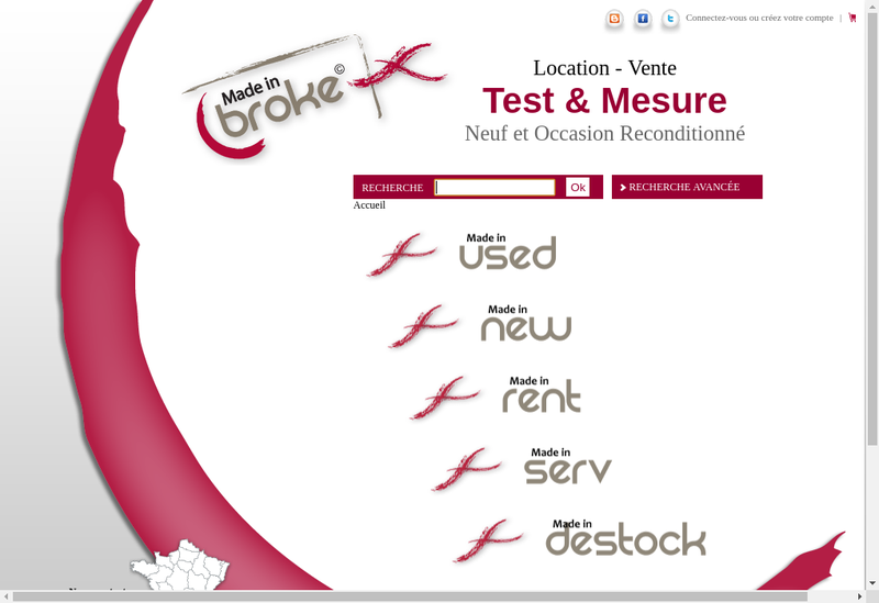 Capture d'écran du site de Made In Broke