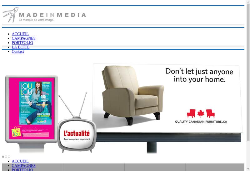 Capture d'écran du site de Made In Media